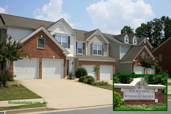 The Regency at Windward Square Townhomes in Alpharetta Georgia