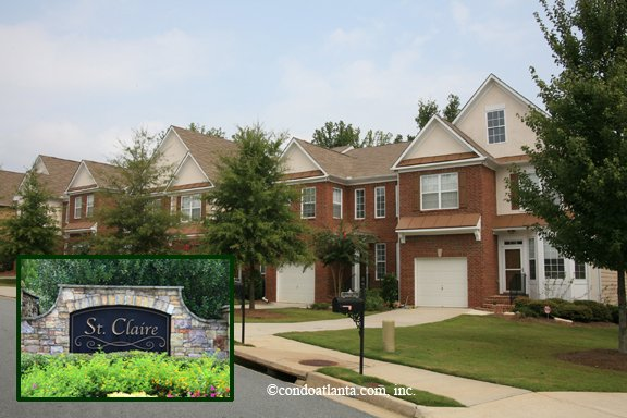 Saint Claire Townhomes in Alpharetta Georgia