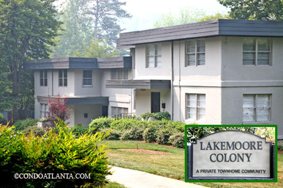Lakemoore Colony Townhomes in Buckhead Atlanta Georgia