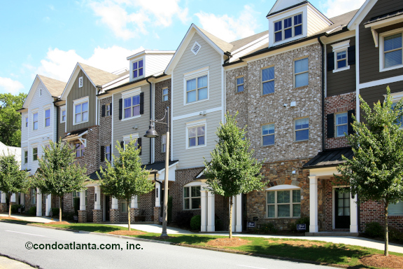 28 and Mill Townhomes in Woodstock GA
