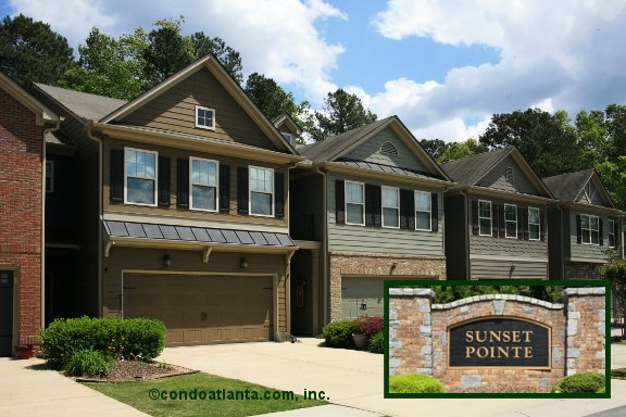 Sunset Pointe Townhomes in Woodstock Georgia