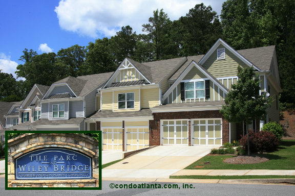 The Parc at Wiley Bridge Townhomes in Woodstock Georgia