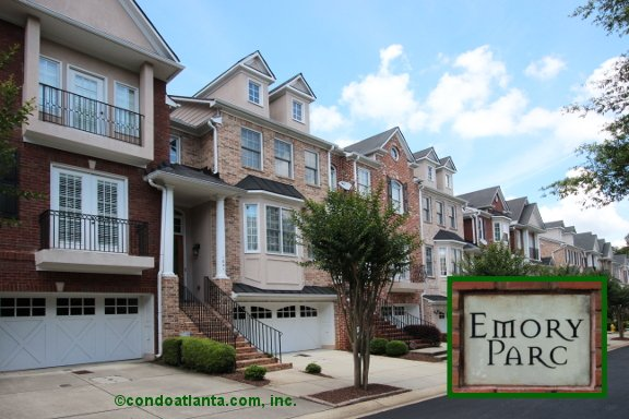 Emory Parc Townhomes in Decatur Georgia
