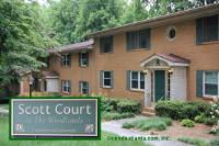 Scott Court at The Woodlands Condominiums in Decatur Georgia