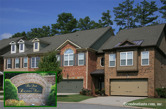 The Park at Haynes Manor Townhomes in Johns Creek Georgia