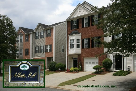 Abbotts Mill Townhomes in Johns Creek Georgia