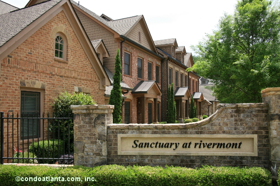 Sanctuary at Rivermont Townhomes in Johns Creek Georgia