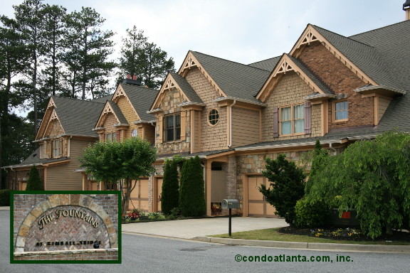 The Fountains at Kimball Bridge Townhomes in Johns Creek Georgia