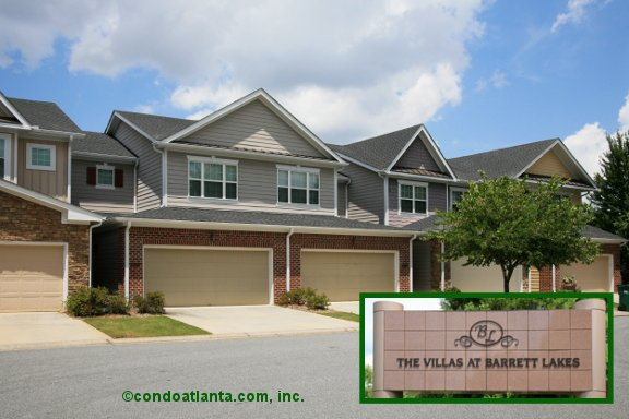 The Villas at Barrett Lakes Townhomes in Kennesaw Georgia