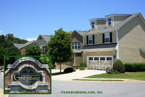 The Cottages at Greystone Townhomes in Cumming Georgia