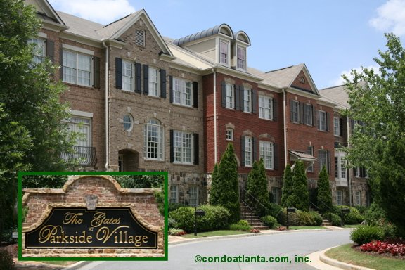 The Gates at Parkside Village Townhomes in Marietta Georgia