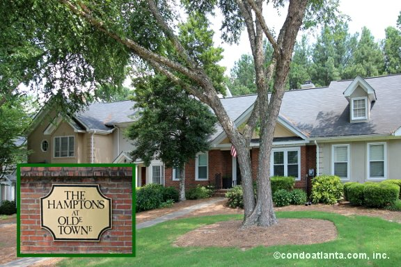 The Hamptons at Olde Towne Townhomes in Marietta Georgia