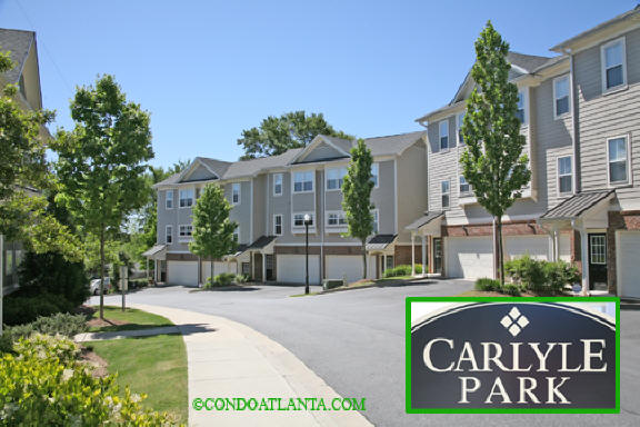 Carlyle Park Condominiums near Inman Park and Midtown Atlanta Georgia