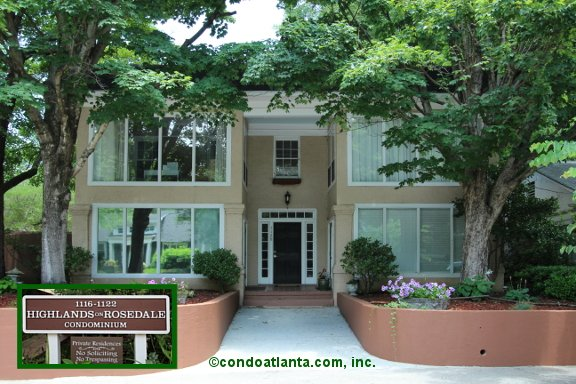 Highlands On Rosedale Condominiums In Virginia Highland Atlanta Georgia
