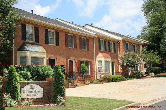 Williamsburg Square Townhomes in Roswell Georgia