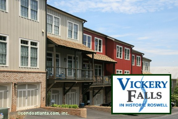 Vickery Falls Townhomes in Roswell Georgia