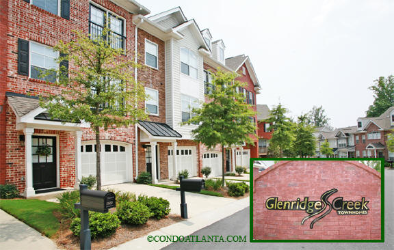 Glenridge Creek Townhomes in Sandy Springs Georgia