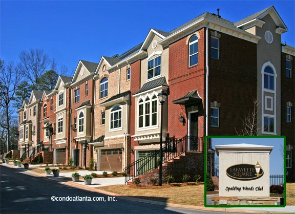 Lafayette Square Townhomes in Sandy Springs Georgia