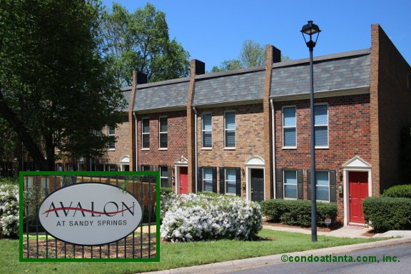 Avalon Townhomes in Sandy Springs Georgia