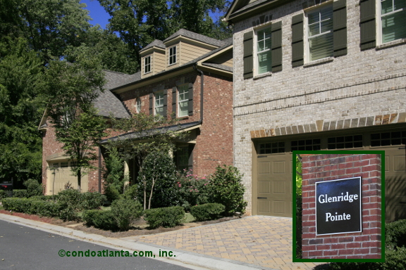 Glenridge Pointe Townhomes in Sandy Springs Georgia