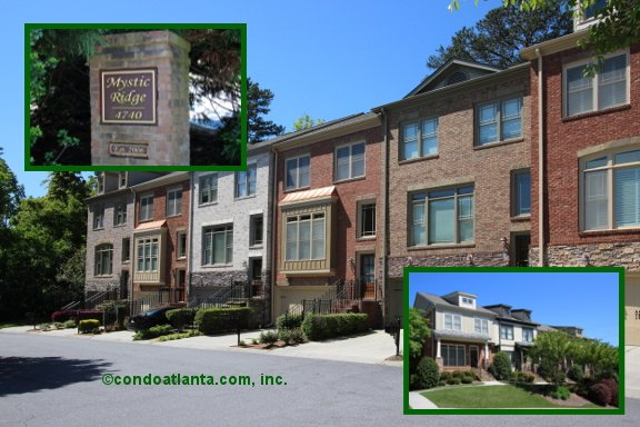 Mystic Ridge Townhomes in Sandy Springs Georgia