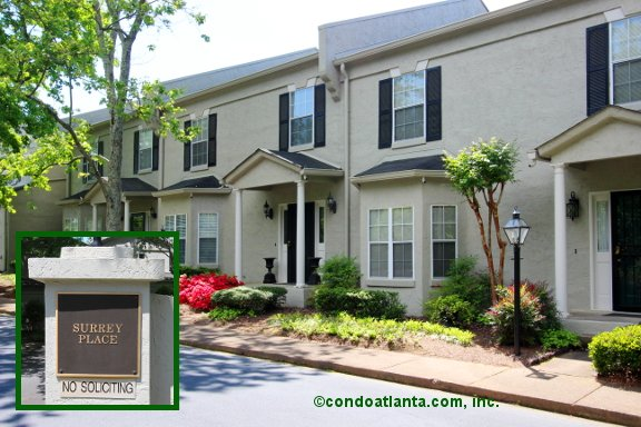 Surrey Place Townhomes in Sandy Springs Georgia
