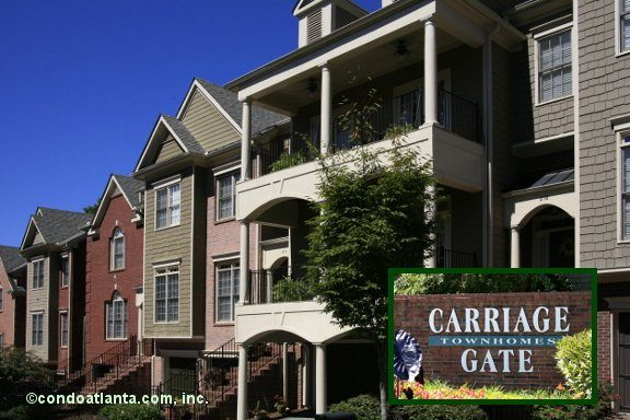 Carriage Gate Townhomes in Sandy Springs Georgia