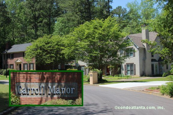 Carroll Manor Townhomes in Sandy Springs Georgia